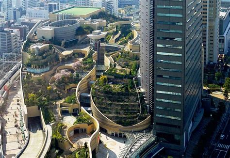 Lecture Hall Floor Plan japan s namba parks has an 8 level roof garden with