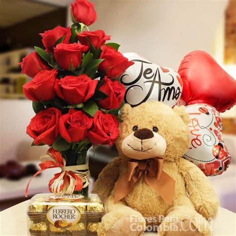 imagenes de rosas y peluches rosas rojas con chocolates y oso de peluche otros regalos