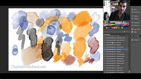 watercolor tutorial using small brushes watercolor brushes for photoshop a quick look youtube