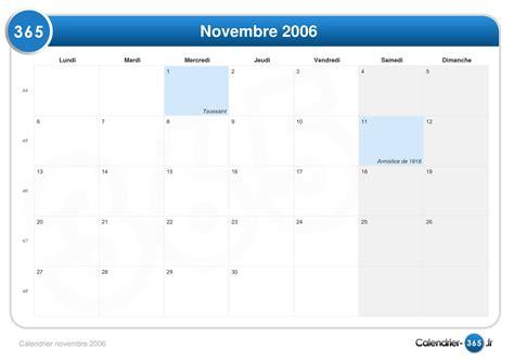 Calendrier Novembre 2006 Calendrier Novembre 2006