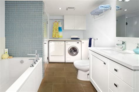 laundry in bathroom ideas armadale project basement bathroom laundry room contemporary bathroom toronto by xtc