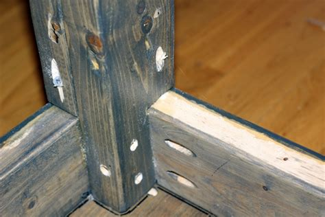 diy attach table legs boxy colonial diy farmhouse table tutorial