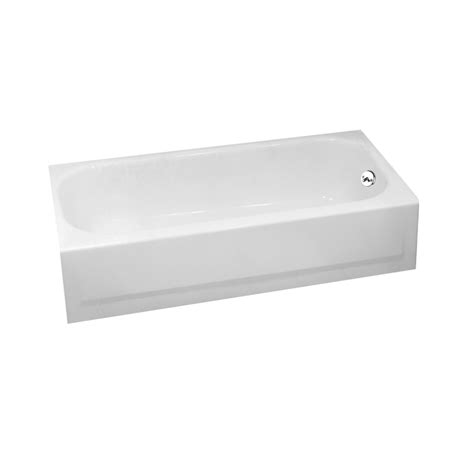 porcelain on steel bathtub review shop briggs pendant 60 in white porcelain enameled steel