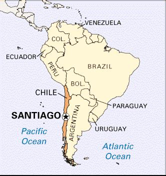 south america map chile santiago map and santiago satellite image