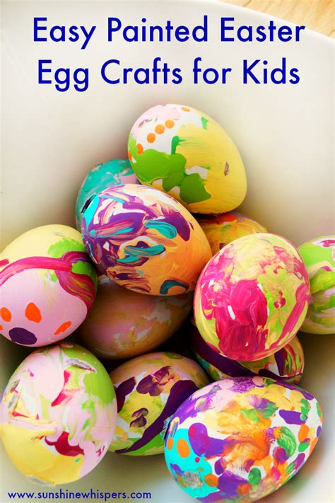 painted eggs pinterest easy painted easter egg crafts for kids