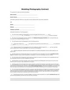 Wedding Photography Contract Template by Wedding Photography Contract In Word And Pdf Formats