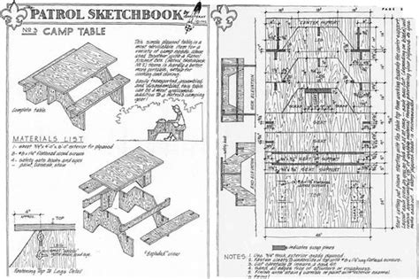knock picnic table plans guf knockdown picnic table plans