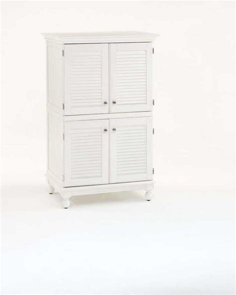 Computer Armoire White by Home Styles Hton Computer Armoire With Louvered Doors Distressed White 88 5337 76