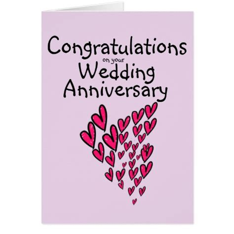 Wedding Anniversary Congratulations Cards congratulations on your wedding anniversary card zazzle