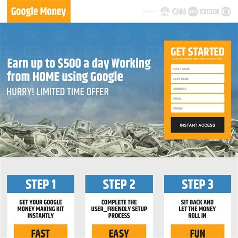 google design lead google money landing page design templates to earn money