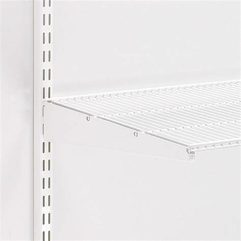 white wire rack shelving white elfa ventilated wire shelf brackets the container
