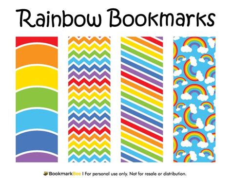 Printable Rainbow Bookmarks | free printable rainbow bookmarks download the pdf
