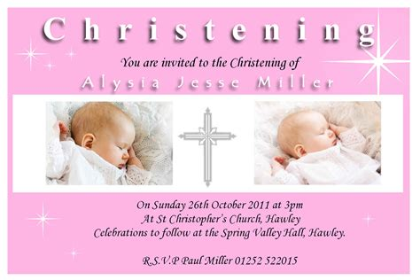 christening invitations templates free free baptism invitation cards template