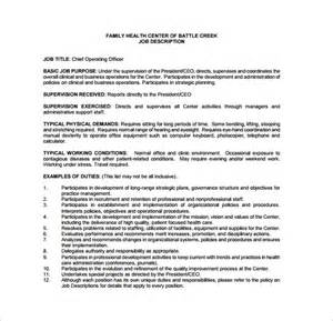 Hospital Chief Operating Officer Cover Letter by 10 Chief Operating Officer Description Templates Free Sle Exle Format