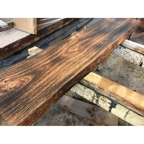 massivholz fensterbank eichenbohle geflammt ge 246 lt baumkante altholz stil