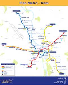 Metro map of toulouse full resolution