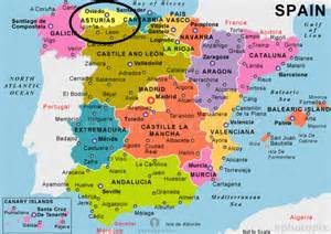 Spain Map With Cities by Welcome To Asturias A Natural Paradise Adventure Mummy