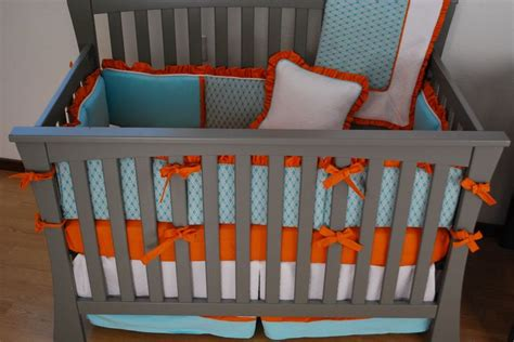 119 Best Images About Orange In The Nursery On Pinterest Orange And White Crib Bedding