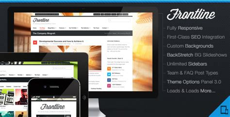 flatline responsive business wordpress theme themes frontline themeforest responsive business agency wp theme