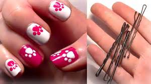 Nails using a bobby pin easy cute nail art for beginners