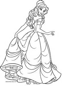 Belle Beauty And The Beast Coloring Pages sketch template