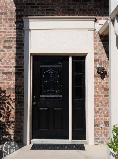 diy front door diy black front door the gathered home