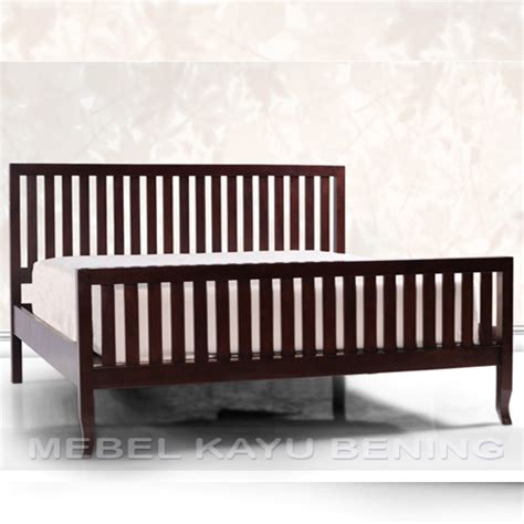 Tempat Tidur Kayu Single tempat tidur kayu jati model minimalis ruji ruji