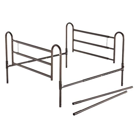 bed extender r essential medical powder coated home bed rails with extender