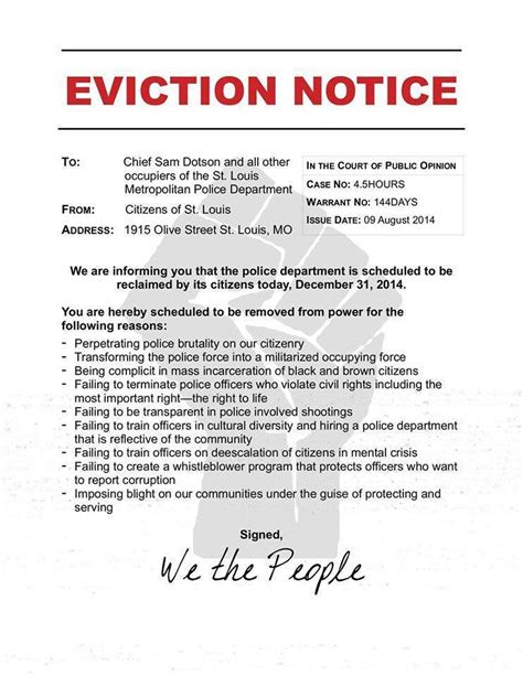 notice to evict free printable documents