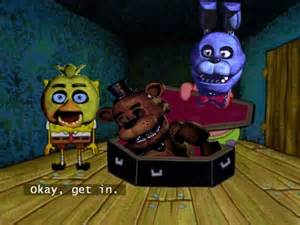 If you could explain the whole fnaf franchise in one spongebob quote