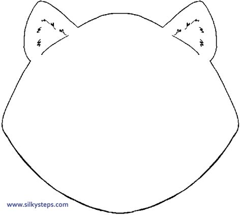 blank cat in the hat template blank patterns for crafts