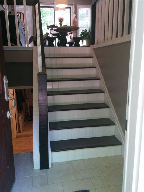 foyer stairs split foyer staircase gets a makeover hometalk