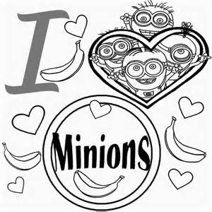Kids costume minion coloring pages banana drawing free activities