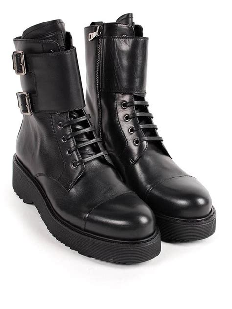 prada combat boots buckle combat boots by prada linea rossa ankle