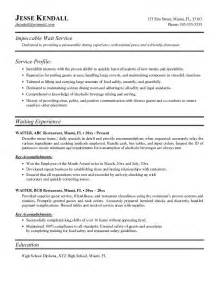 Waiter Resume Sample Waitress Resume Template Word Waitress Resume Template