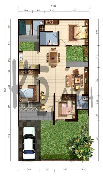 layout rumah type 70 contoh desain rumah minimalis type 70 1 lantai desain