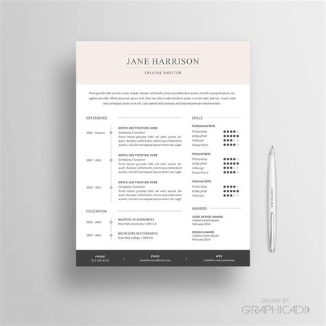 Cover Letter Template Etsy 17 Best Images About Etsy Resume Templates Etsy Cv Templates On Shops Colors And