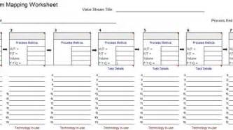 Value Mapping Template by Vsm Template For Microsoft Excel