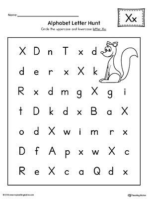 Letter X Worksheets by Alphabet Letter Hunt Letter X Worksheet