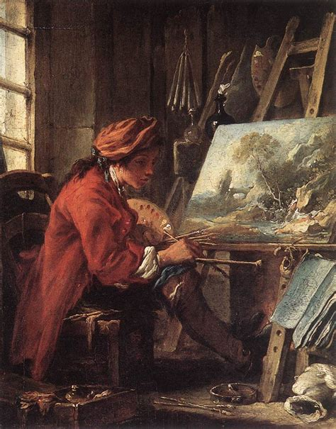 a painter painting painter in his studio francois boucher
