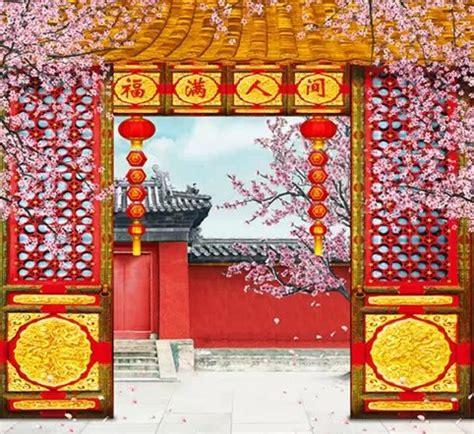 Japanese Wedding Backdrop by Aliexpress Buy Fortune Garden Scenic