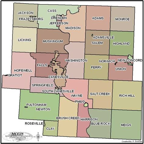 State Of Ohio Clerk Of Courts Records Maps Of Muskingum County Ohio