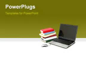 powerpoint computer templates powerpoint template an open laptop with a stack of