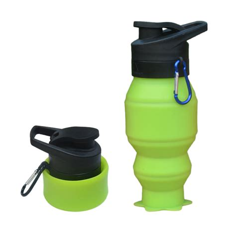 Silicone Folding Bottle outdoor travel folding foldable silicone water bottle