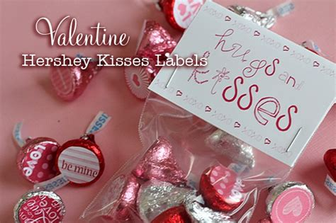 printable kisses labels printable hershey kisses labels and bag topper valentine