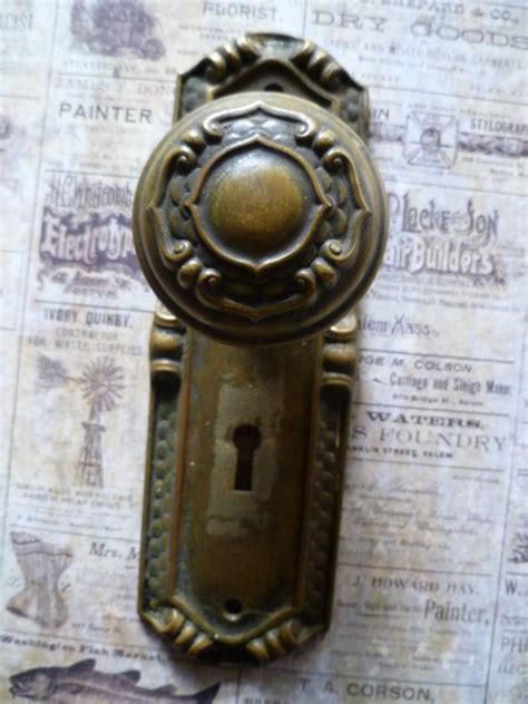 Door Knob Plates Antique by Antique Door Knob And Plate By Caityashbadashery On Etsy