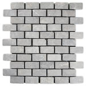 """Details about Light Grey Mini Stone Subway Tile 12"""" x 12"""" Great for"""