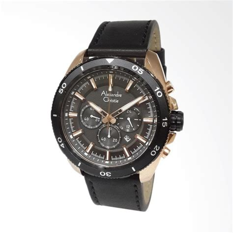 Alexandre Christie Ac6292mc Chronograph Black List Gold For jual alexandre christie chronograph kulit jam tangan pria black gold 6472mclbrba