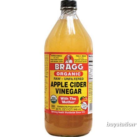 Apple Cider Vinegar 946 Ml bragg organic apple cider vinegar with the