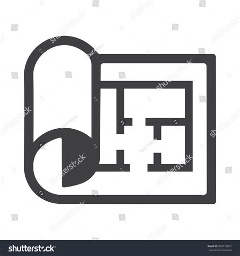 Floor Plan Icon by Plan Icon Stock Vector 403672867 Shutterstock